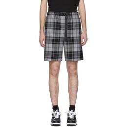 Alexander Wang Grey Tartan Shorts 201187M19301503GB