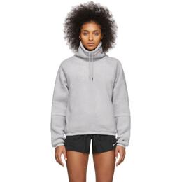 Nike Grey Fleece Drawstring Turtleneck BV5285-059