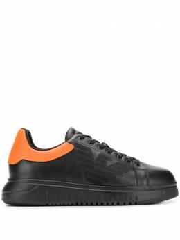 Emporio Armani кроссовки с контрастной стойкой на каблуке X4X180XL455