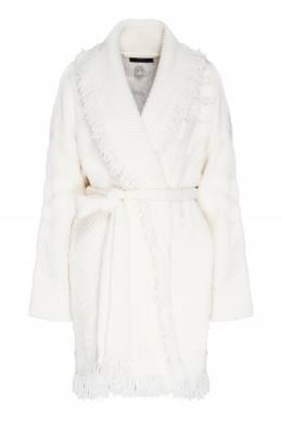 Белый кардиган с ручной вышивкой Polar View Alanui 1870166808