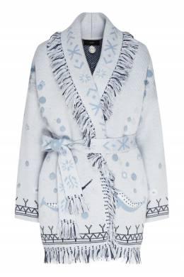 Голубой кашемировый кардиган Sedna Goddess Alanui 1870166807