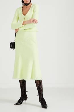 Кремовая миди-юбка с бахромой Alexander Wang 367166756