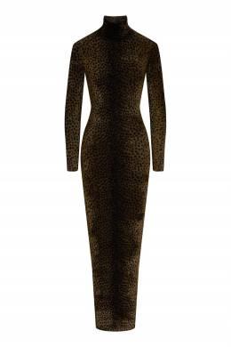 Платье с леопардовым принтом Alexander Wang 367166759