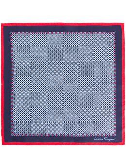 Salvatore Ferragamo silk printed Gancini scarf 725176