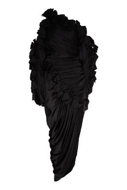 Черное платье с драпировками и бантами Resistance Bow Zimmermann 1411166789