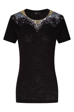 Черная футболка с декором Maje 888166767