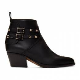 Valentino Black Valentino Garavani Rockstud Cowboy Boots 192476F11301005GB