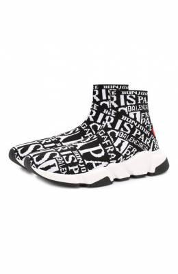 Текстильные кроссовки Speed Balenciaga 593658/W1791