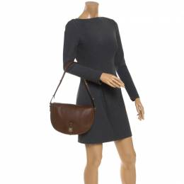 Mulberry Brown Leather Tessie Shoulder Bag 245854