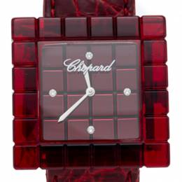 Chopard Red Be Mad Limited Edition Icecube Diamond Women'S Watch 31MM 248393