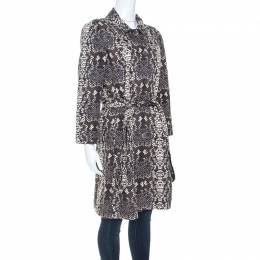 Marc By Marc Jacobs Python Print Cotton Mac Trench Coat M