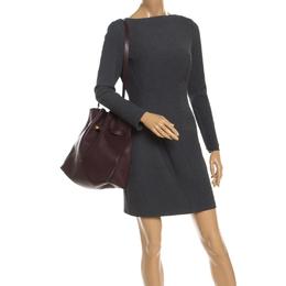 Mulberry Burgundy Leather Tyndale Shoulder Bag 246274