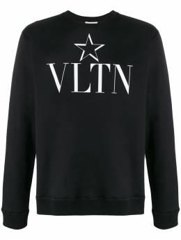 Valentino толстовка с круглым вырезом и принтом VLTNSTAR TV3MF10V63A