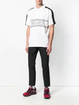 Kenzo рубашка-поло с логотипом спереди F865PO0384BD