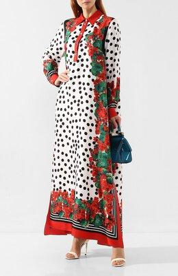 Шелковое платье Dolce & Gabbana F6XT1T/FI1IY
