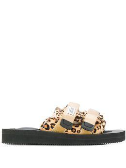 Suicoke сандалии с леопардовым узором OG056VHL