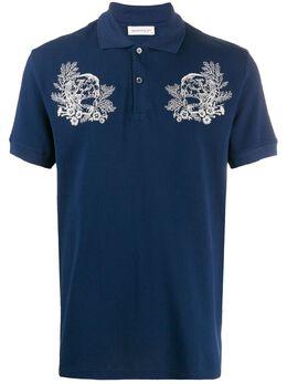 Alexander McQueen рубашка-поло с вышивкой 599596QOZ73