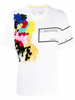 No Ka' Oi футболка с вышивкой пайетками и принтом P3CTSNOXW271106A0