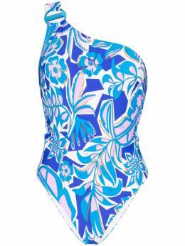 Emilio Pucci one-shoulder floral swimsuit 0EMC200E778