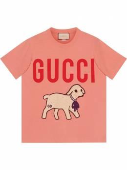 Gucci футболка с принтом Gucci 580762XJBSX