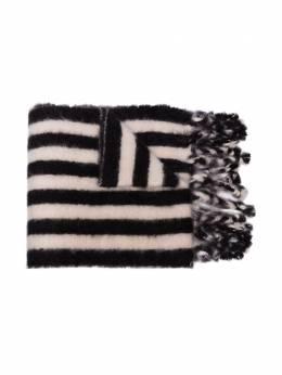 Loewe вязаный шарф в полоску с кисточками 91010071