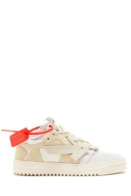 Бежевые кожаные кроссовки Off-White 2202166827