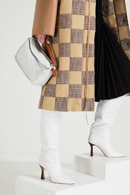 Белые сапоги с контрастным фигурным каблуком Lina Wandler 2635166856