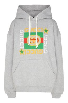 Худи с винтажным логотипом Gucci 470166981