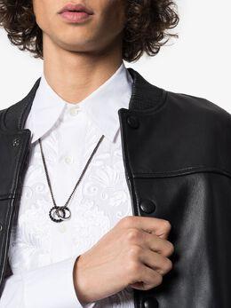 Alexander McQueen black matte ring necklace 599969J160K