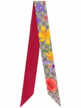Gucci Flora print neck bow 6093173G001