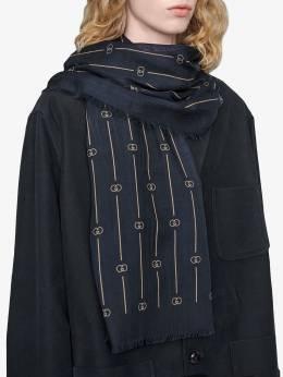 Gucci retro GG thin stripe scarf 6009484G200