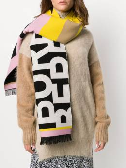 Burberry contrast logo striped scarf 8023073