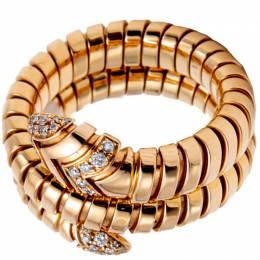 Bvlgari Serpenti Tubogas Double Spiral Rose Gold Diamond Ring