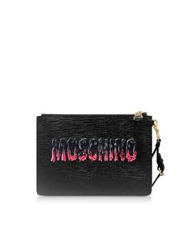 Черный Клатч Teddy Bear Moschino 8429 8210 A1555 FANTASY PRINT BLACK