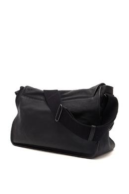 Черная кожаная сумка с застежками-пряжками Bottega Veneta 1669166951