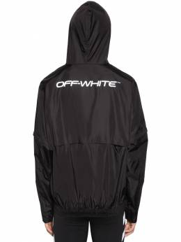 Logo Print Zip Up Shell Nylon Jacket Off-White 71ILFA060-MTA5MQ2