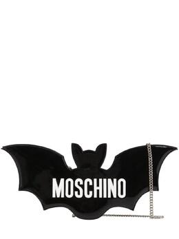 Bat Faux Patent Leather Clutch Moschino 71IL0M003-QTE1NTU1