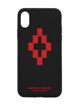 Cross Logo Print Tech Iphone X/xs Case Marcelo Burlon County Of Milan 71IJSW003-MTAyNQ2