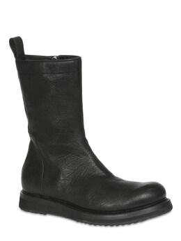 30mm Leather Zip Boots Rick Owens 71IATF004-MDk1