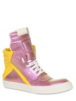 Geo Basket Leather Sneakers Rick Owens 71IATF001-MTU2MTAx0