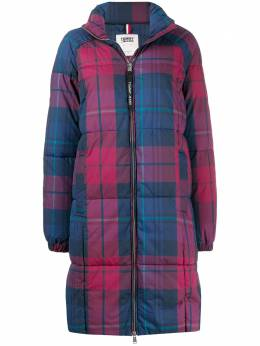 Tommy Jeans oversized check print puffer coat DW0DW07336