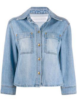 Victoria Victoria Beckham джинсовая куртка с укороченными рукавами 2120DJK000855A