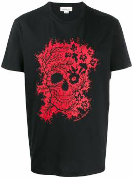 Alexander McQueen floral skull print T-shirt 599560QOZ66