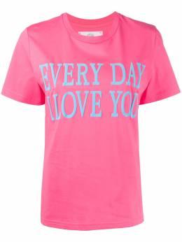 Alberta Ferretti футболка с короткими рукавами и надписью 07011672