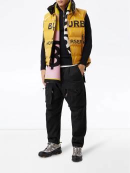 Burberry contrast logo scarf 8023073