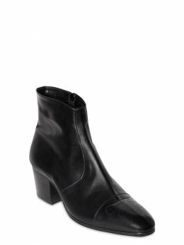 60mm Zip-up Leather Ankle Boots Dsquared2 71IGH4003-MjEyNA2