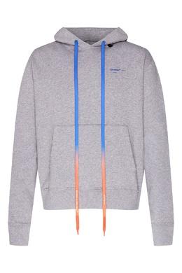 Серое худи с синим логотипом на спине Off-White 2202166898