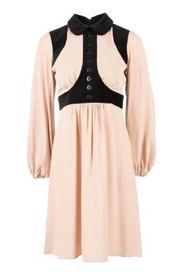 Комбинированное платье с пуговицами No. 21 35167440