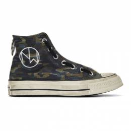 Undercover Black Converse Edition Chuck 70 High Sneakers 191414M23600313GB