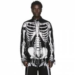 Loewe Black and White William De Morgan Skeleton Turtleneck 201677M20502104GB